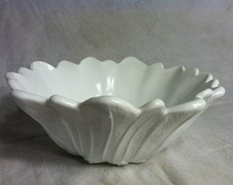 Hazel Atlas Milk Glass Flower Bowl