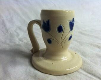 WILLIAMSBURG Pottery Little Salt Glazed CANDLE HOLDER