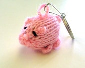 Pig - Key Chain Hand Knitted