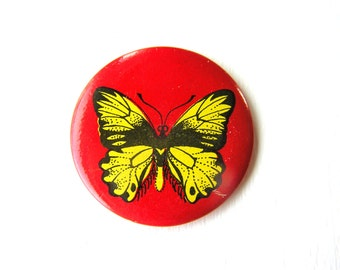 Butterfly Pin Button Soviet Vintage Pins Collectibles Pinback Collectible, Retro Brooch, USSR Pins Pin Buttons