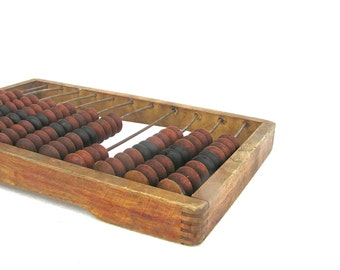 Vintage Abacus Large Old Wood Abacus, Old School Supplies, Gift for Bookkeeper, Rustic Office Decor, Soviet Vintage Abacus