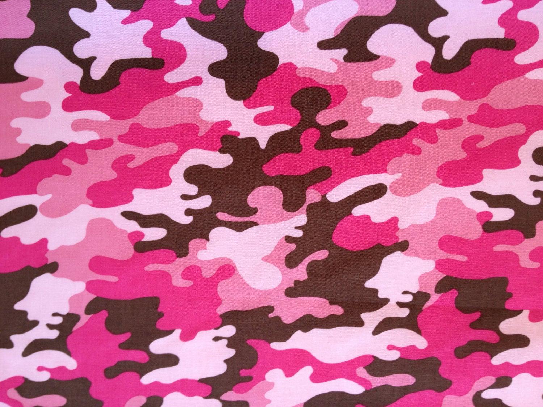 Robert Kaufman Pink Camo