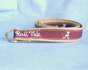 Alabama Roll Tide Embroidered Belt