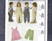 Burda 9772 Pattern for  Overalls Pants and Skirt sizes 6months to 3 yrs.