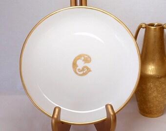 Antique Bavaria Plate H C Royal  Initial C