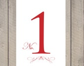 Tiffany: Table Numbers