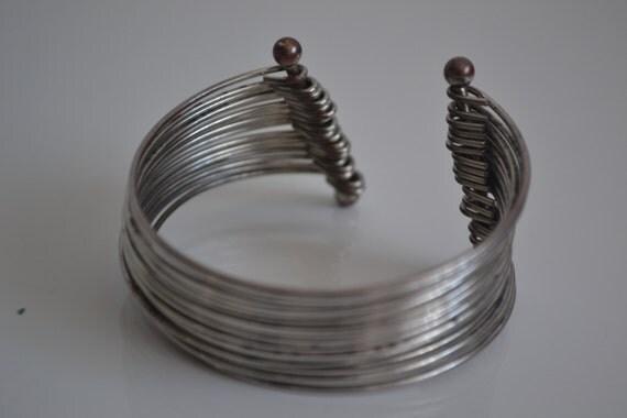 VINTAGE silver bangle cuff bracelets arabic afghan