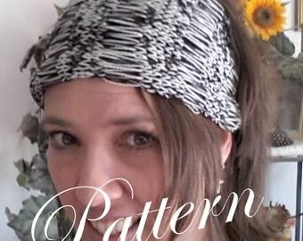 PDF Pattern Knitted Drop Stitch Headband Headwrap