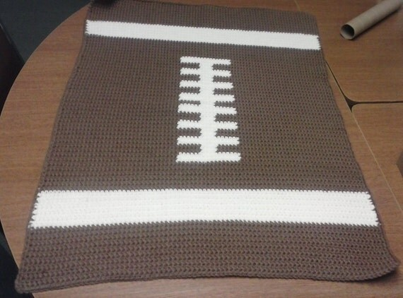 Crochet Pattern For Football Blanket : Crochet Baby Football Blanket by ChrisCreatesCrafts on Etsy