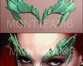 Poison Ivy Leaves Eyebrow Eye mask Cosplay GREEN No Glitter Leaf Uma Thurman ELF fairy Cosplay Comic Con