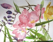 Original Watercolor Painting - Plants