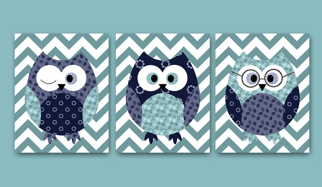 Kids wall decor owl decor owl nursery baby boy nursery decor for Baby owl decoration