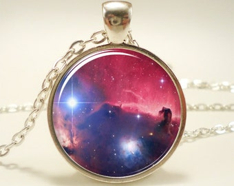 Galaxy Necklace, Nebula Jewelry, Stars And Universe Hipster Space Pendant (1399S1IN)