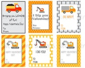 Construction Valentine's- Printable Kid's Valentine's