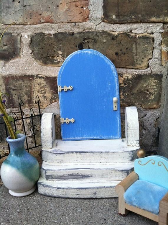 Items similar to blue fairy door garden decor childrens for Fairy door for bedroom