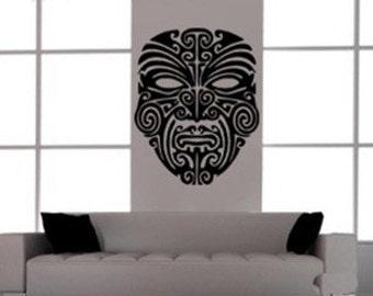 80x60cm Removable Beautiful Mask Nature Vinyl Wall Paper Decal Art Sticker Q818