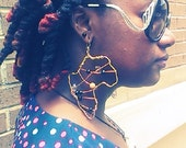 Gold African shaped wired earrings Free Shipping in US