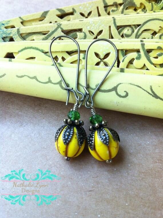 Yellow Earrings, Summer Earrings