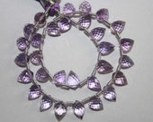 Natural AAA Quality Pink Amethyst 5X7 to 5X8mm Faceted Fancy Drops Gemstone Beads 8 Inches FBL03