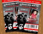 Michael Jackson Birthday Party Invitations