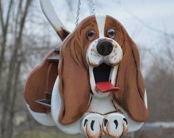Basset Dog Birdhouse or Bird Feeder