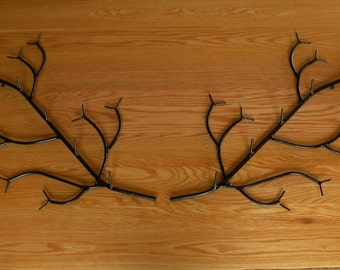 2 Large wall branch coat racks , holds 10 Coats / Jackets great for log cabin camp or lodge