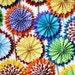 8 party Rosette Flowers /Party decor/ pinwheels / paper fans(CHOOSE YOUR 4 COLORS)