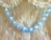 Blue Faux Moonstone Necklace