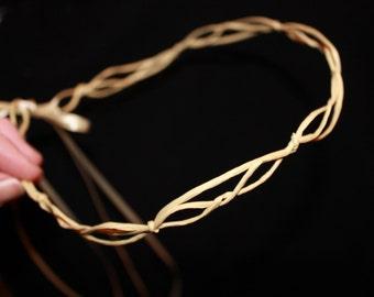 Blank Base Wreath DIY Wedding Garland with ribbons, Woodland, Head wreath base, Whimsy, Garden, Bride.
