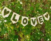 Moss LOVE Banner-Valentines Banner-Moss Letters-Woodland Wedding Decor-Woodland Baby Shower Decor-Bridal Shower Decor-Burlap Banner