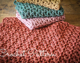 Crochet Stitches For Super Bulky Yarn : Crochet Pattern - Super Chunky Baby Blankie - quick and easy - instant ...