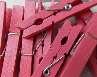watermelon pink clothespins