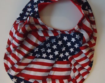 Beautiful Bib for your Baby's First Fourth of July Celebrations.  Ready to Ship
