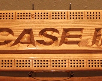 CASE IH Cribbage Board Made From Black Ash