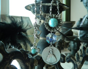 SALE 15% off with coupon code MARCH 15 Bridesmaid Assemblage Necklace