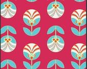 Florette Ruby, Color Me Retro by Jeni Baker for Art Gallery Fabrics 1 Yard Cut