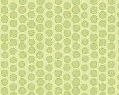 Priscilla Dot in Green  from Lila Tueller's Priscilla Collection for  Riley Blake: 1/2 Yard Cut