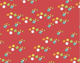 Meadow Flowers in Red  from Locally Grown by Marissa and Creative Thursday - One Yard Cut