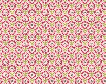 Happy Flower Pink 1 Yard Cut