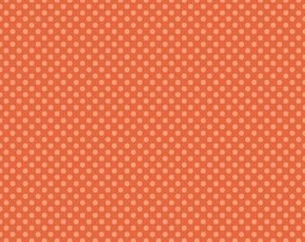 Hoot Dots Orange  Riley Blake 1 Yard Cut