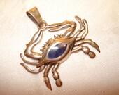 950 Silver Crab Pendant Souvenir of Annapolis Maryland