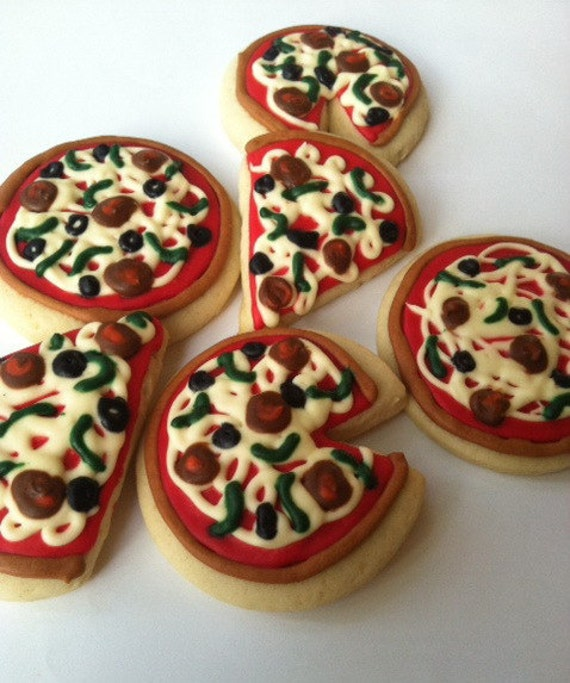 Pizza Pie / Pizza Slice / Pizza Sugar Cookies with Buttercream ...