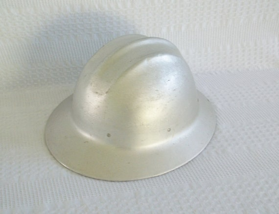 Vintage Aluminum Hard Boiled Ed Bullard Safety Hat Hard Hat