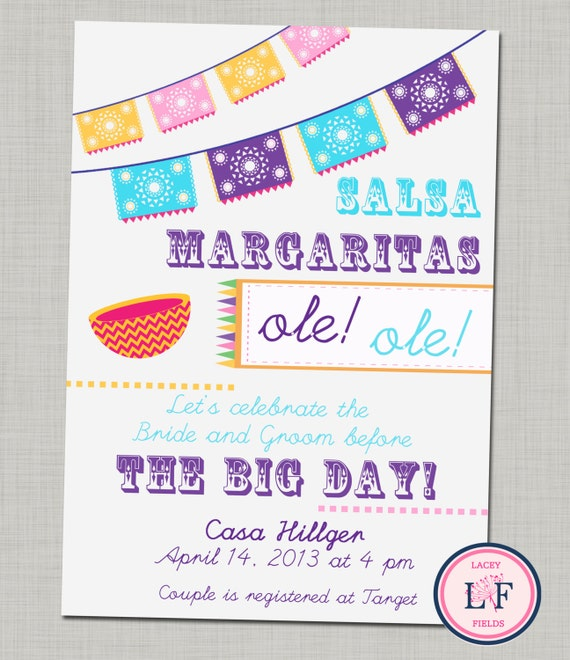 Items similar to Fiesta Bridal Shower Invitation printable- fiesta ...