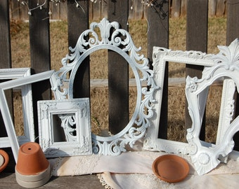 Shabby Chic Picture Frame Set Frame Collage White Vintage Picture Frames