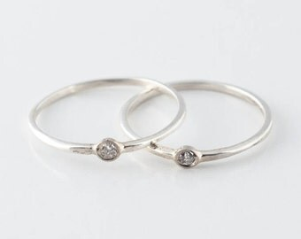 Sterling Silver Diamond Knuckle Ring