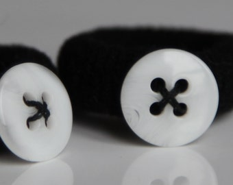 Button-on Hair Ties - Small