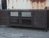Media Console, Credenza, Buffet, Industrial, Mid Century Modern, Reclaimed Wood, Hutch