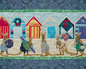 "McKenna Ryan ""Bright and Beachy"" Quilt Pattern, Chrissy Down Under, Kangaroos"