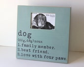 dog definition frame, distressed frame, shabby chic frame